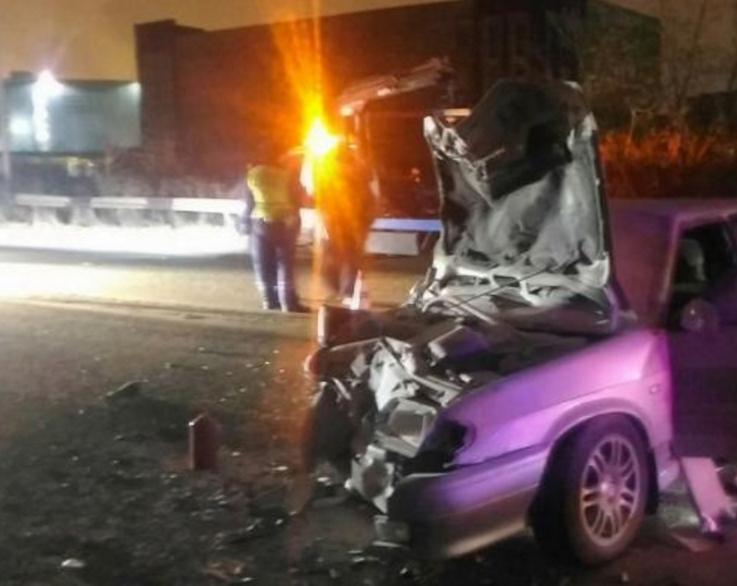ВНижнем Тагиле лихач, уходя отпогони, протаранил полицейскую машину