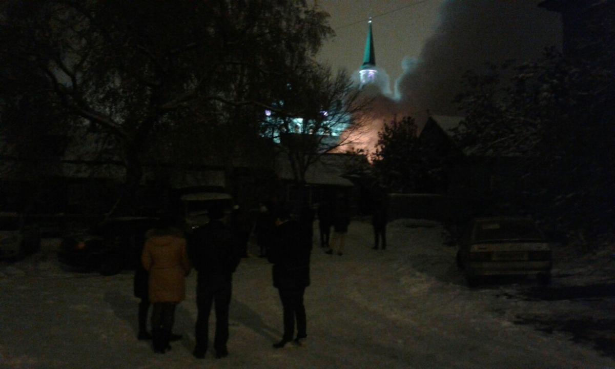 ВУфе около мечети произошел пожар