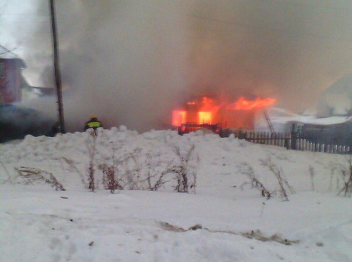 ВИшиме впроцессе пожара изогня вынесли 2 пожилых людей