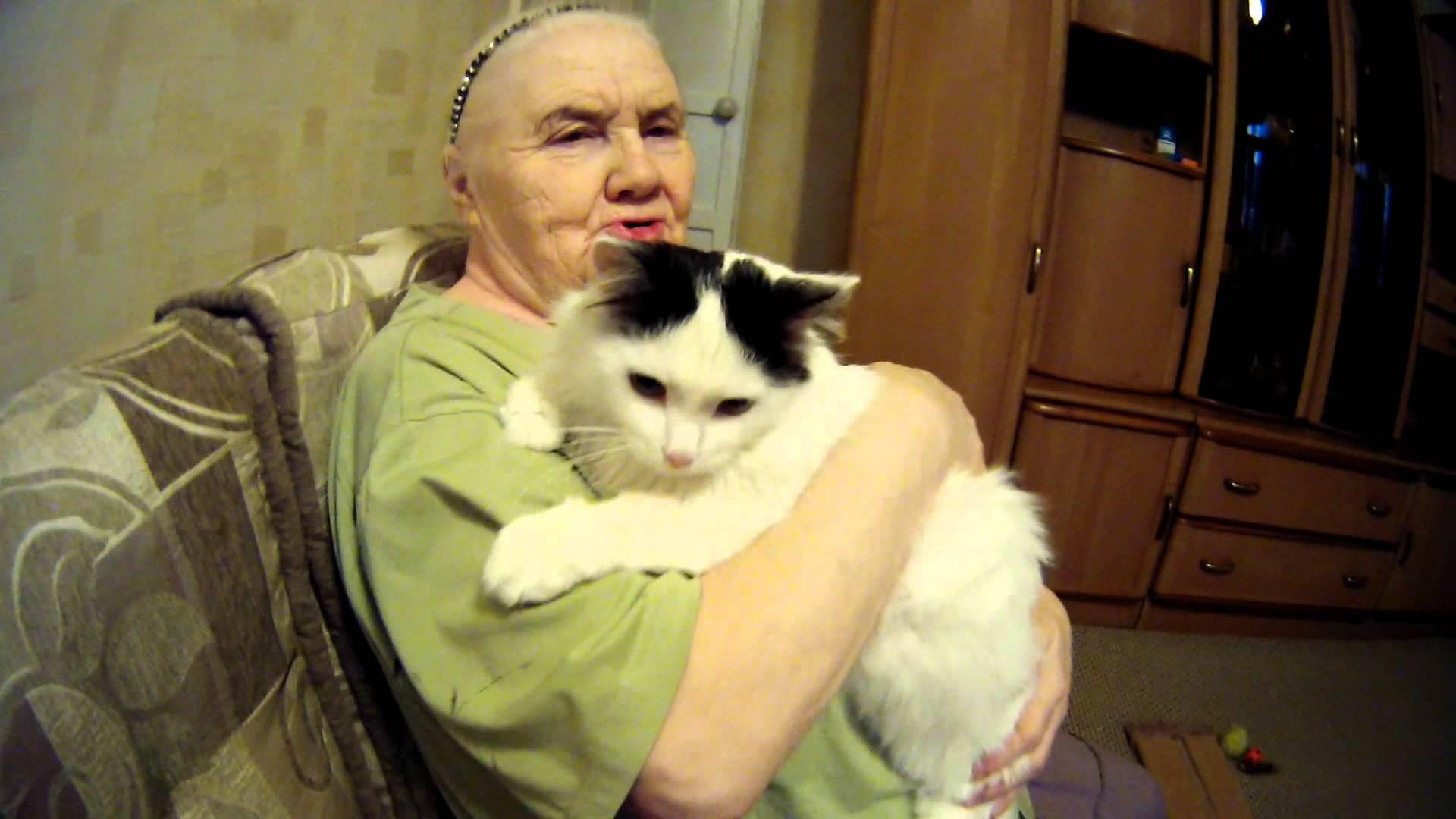 внук засунул бабушке