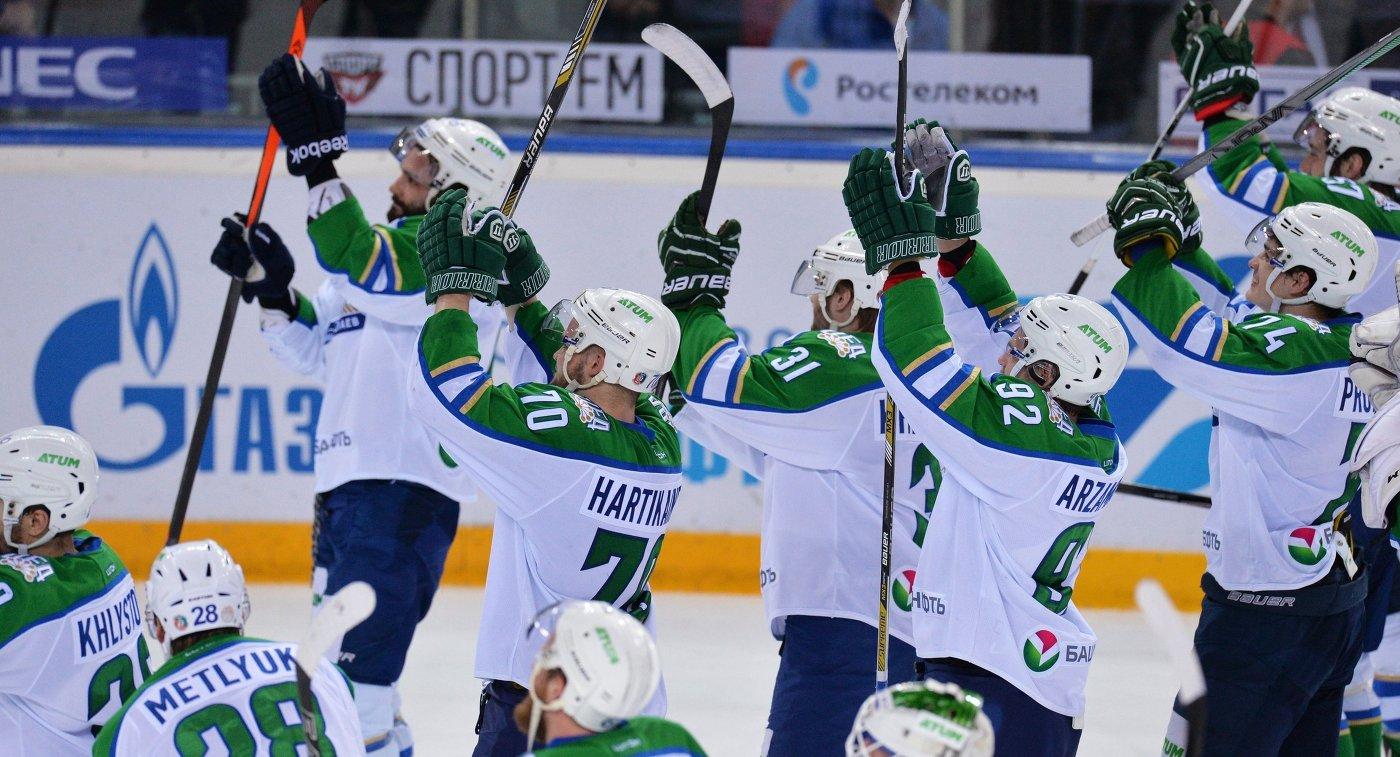 «Слован» одержал победу у«Салавата Юлаева» вматче чемпионата КХЛ