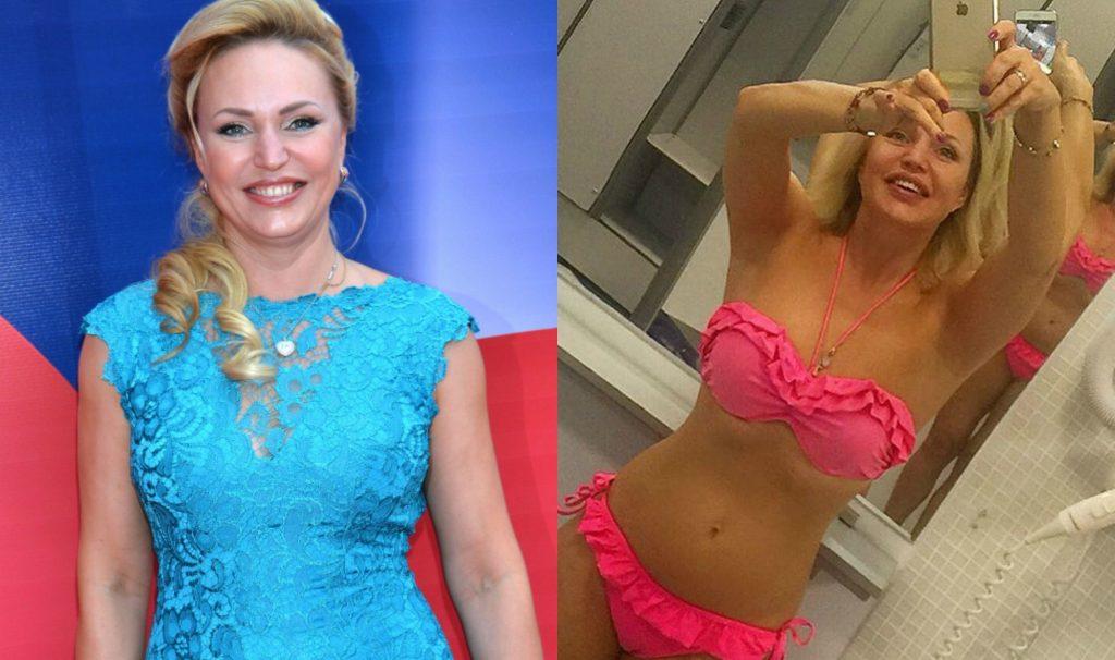 Фото Аллы Довлатовой до и после пластики. Фото в купальнике