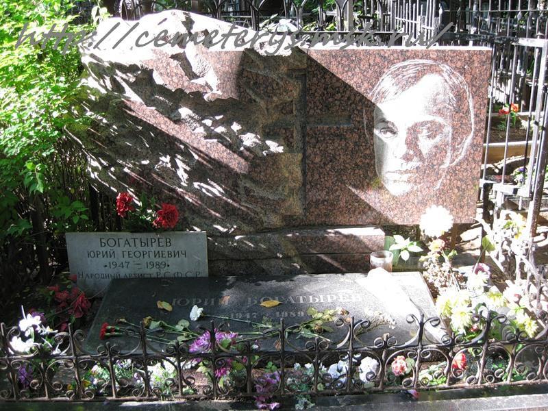 Могила и похороны Юрия Богатырева фото