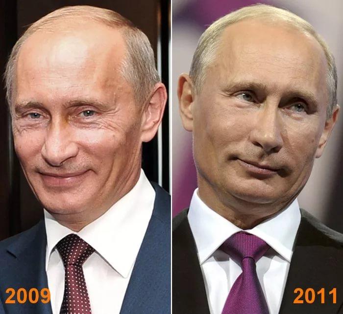 Фото Владимира Путина до и после пластики