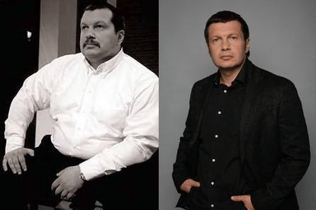Фото Владимира Соловьева до и после пластики - похудел