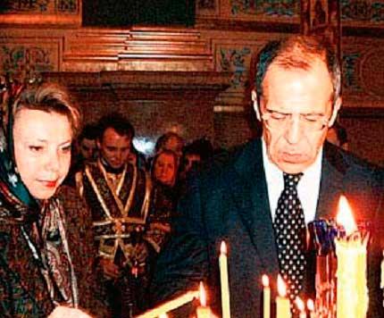 Жена Сергея Лаврова - Мария фото
