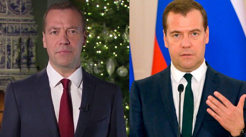 Фото Дмитрия Медведева до и после пластики
