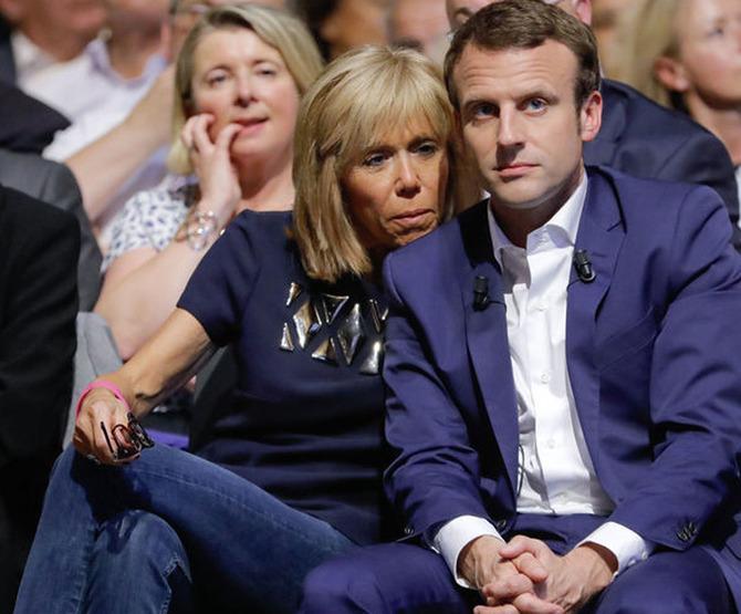 Жена президента Франции Макрона и их разница в возрасте
