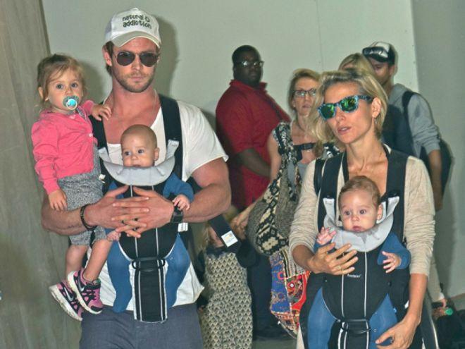 Семья и дети Криса Хемсворт фото