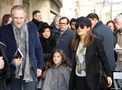 Семья и дети Сальмы Хайек фото
