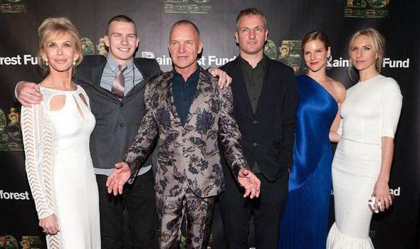 Семья и дети Стинга фото