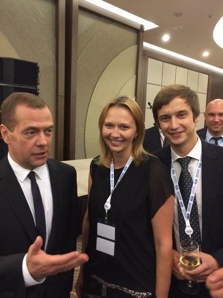Роман Караулов с Дмитрием Медведевым