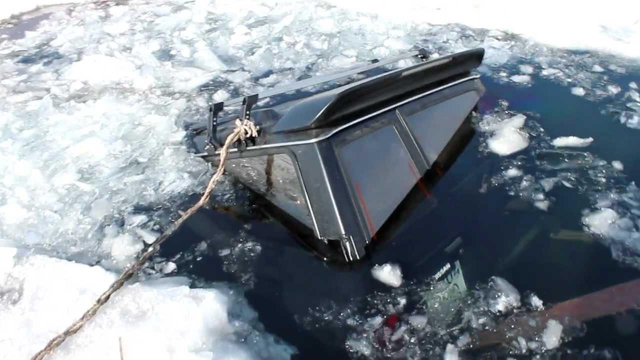 фото автомобилей провалившихся под лед #2