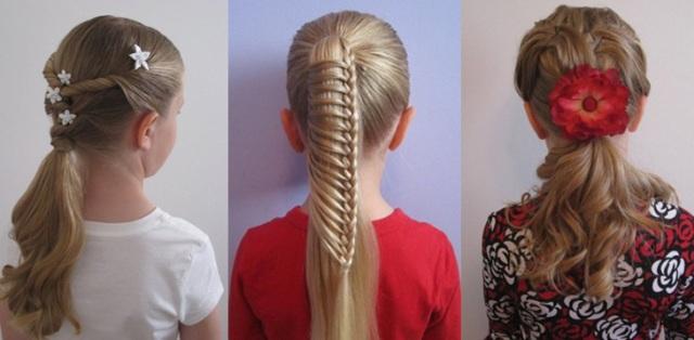 Причёски на 1 сентября 3 класс на длинные волосы