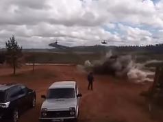 Запад 2017. Видео, где вертолет стреляет по людям