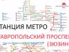 """Станция метро в Москве: Севастопольский проспект (""""Зюзино"""")"""