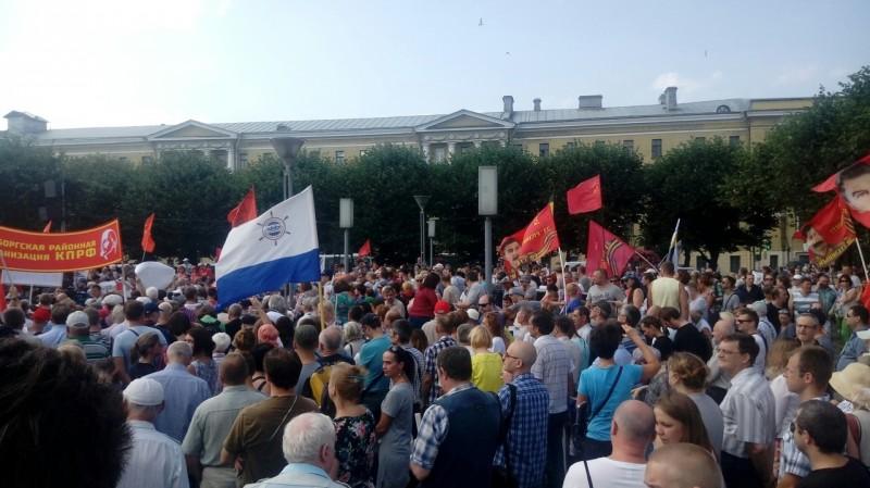 Причины проведения митингов в Санкт-Петербурге фото
