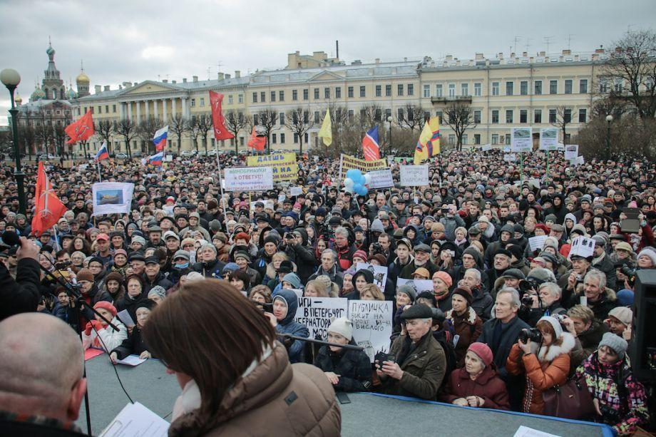 Требования протестующих в Санкт-Петербурге фото