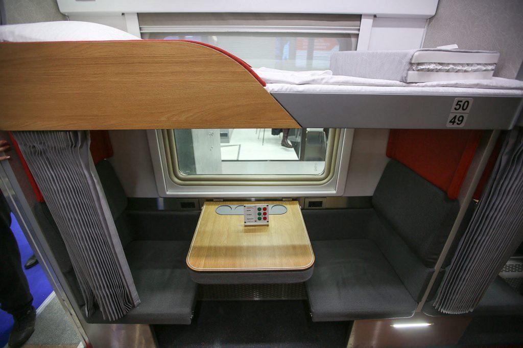 Седьмое фотоплацкартного вагона РЖД внутри