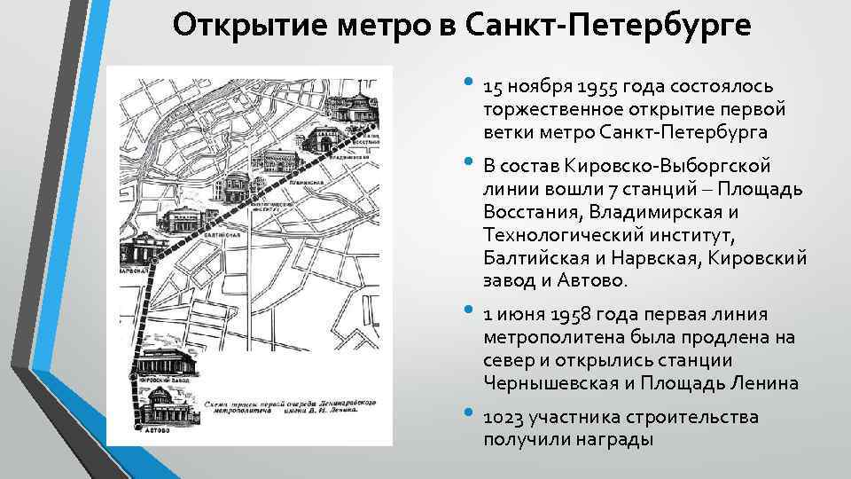 История метро Санкт-Петербурга фото