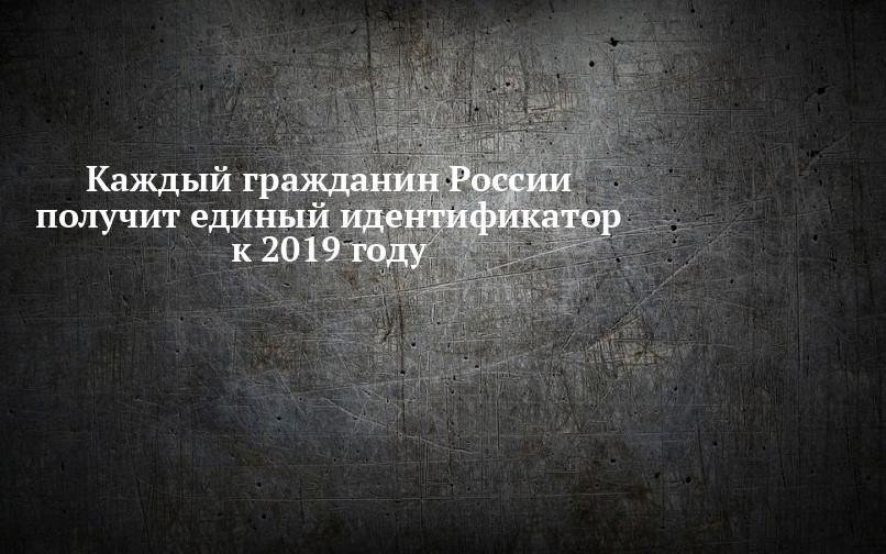 Каждый гражданин России получит единый идентификатор к 2019 году фото