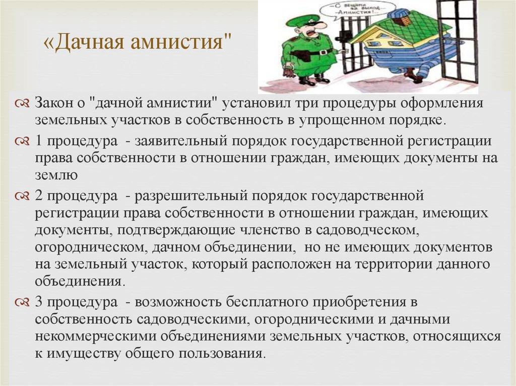 В чем заключается основная цель «амнистии» фото