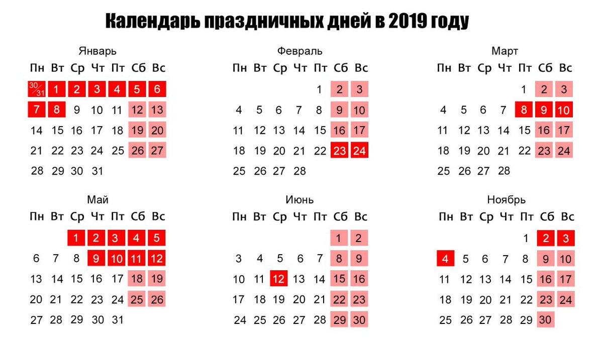 Выходные и праздники в июле 2019 года в России календарь фото