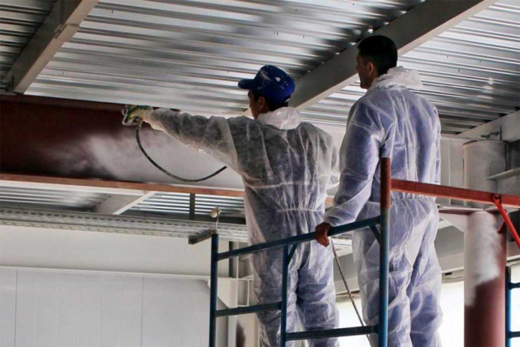 Окрашивание крупных конструкций из металла